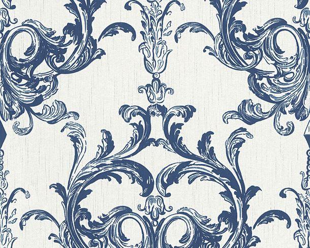 Tapete Vlies Barock weiß blau Tessuto 96196-4 online kaufen