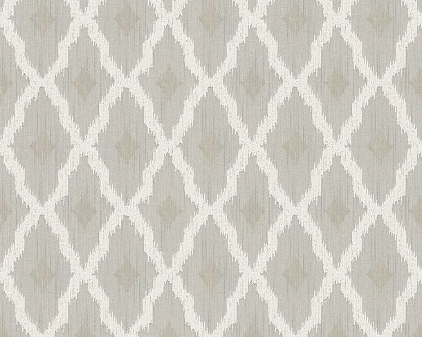 Wallpaper squared grey white Tessuto 96197-2