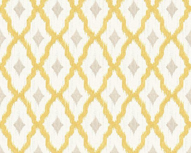 Tapete Vlies Kariert gelb weiß Tessuto 96197-3 online kaufen
