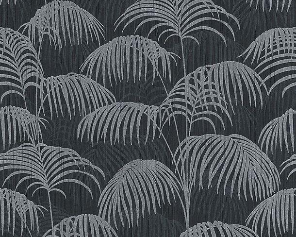 Wallpaper nature black grey Tessuto 96198-4 online kaufen