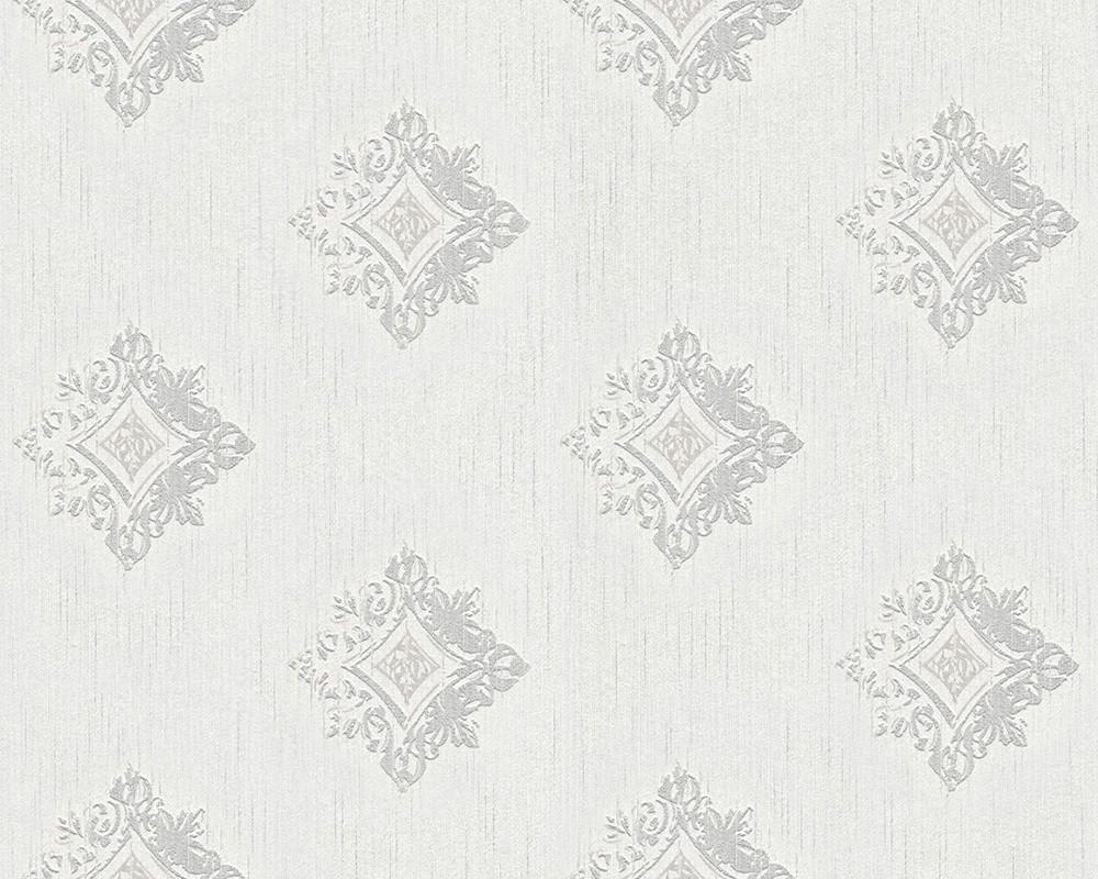 tapete vlies barock wei grau tessuto 96200 1. Black Bedroom Furniture Sets. Home Design Ideas