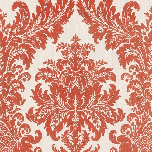 Wallpaper nature white orange Rasch Textil 077260 online kaufen