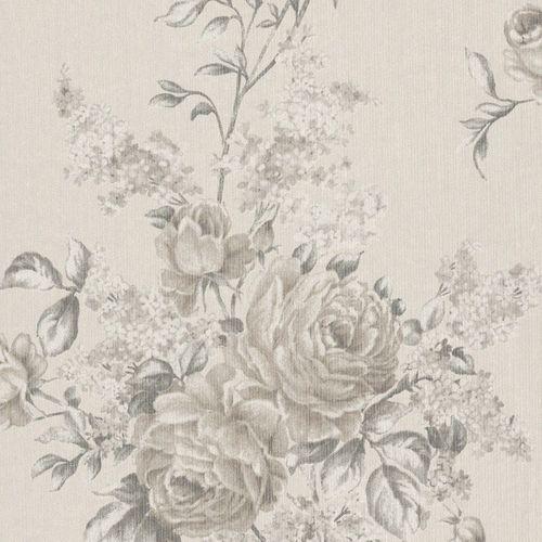 Tapete Vlies Blumen creme Rasch Textil 077543 online kaufen