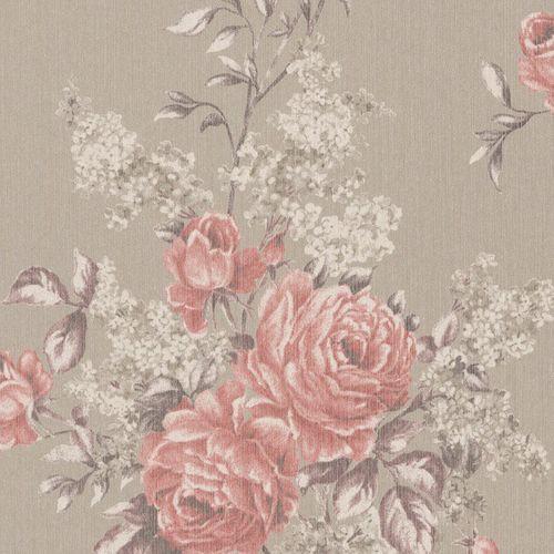 Wallpaper flowers beige rosa Rasch Textil 077574 online kaufen