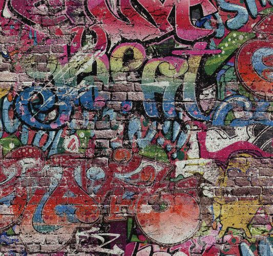 Wallpaper graffiti colorful PS 05530-10 online kaufen