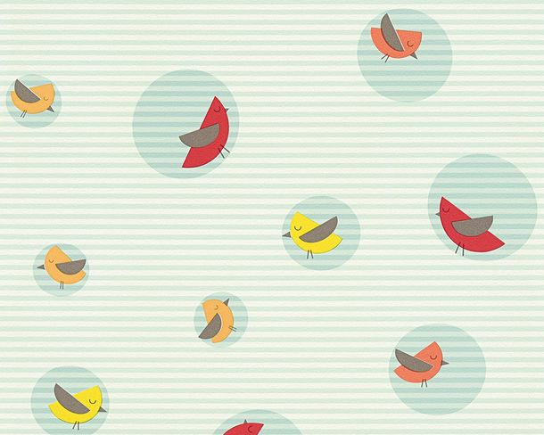 Wallpaper Esprit Kids Child birds turquoise 30298-3 online kaufen