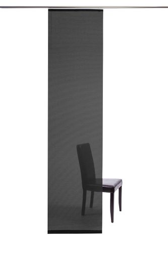 Panel curtain semi transparent black plain 5840-31 online kaufen