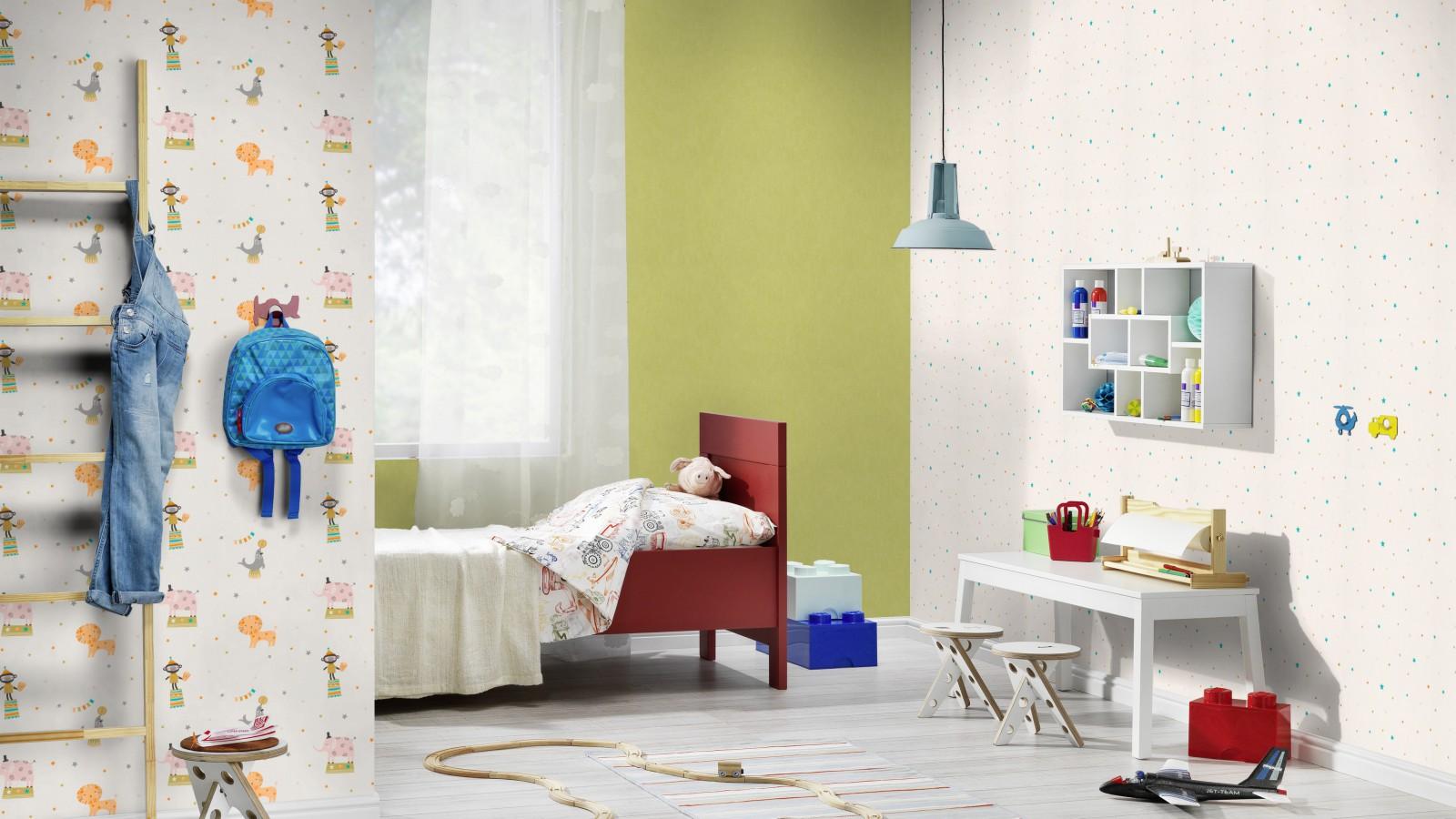 Tapete papier einfarbig uni rasch grün 247459