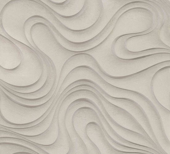 Colani Tapete Evolution Marburg Wellen beige 56319