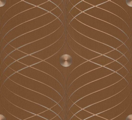 Colani wallpaper Evolution Marburg wave brown 56334 online kaufen