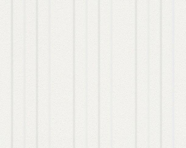 Kindertapete Uni Gestreift weiß Glanz 2597-14 online kaufen