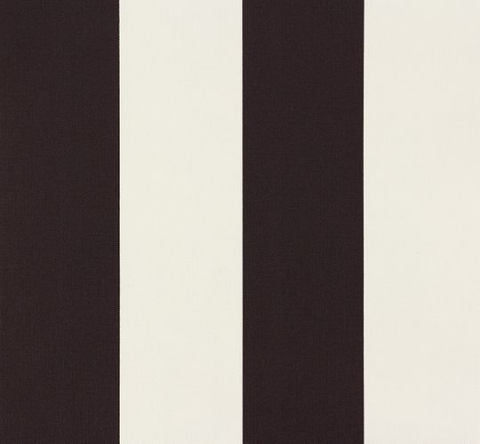 Wallpaper stripes black white AS Elegance 3342-13