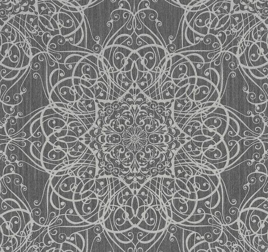 Guido Maria Kretschmer wallpaper black ornament 02465-10