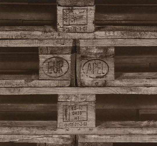 Rasch Tapete Crispy Paper braun Holz-Palette 524109 online kaufen