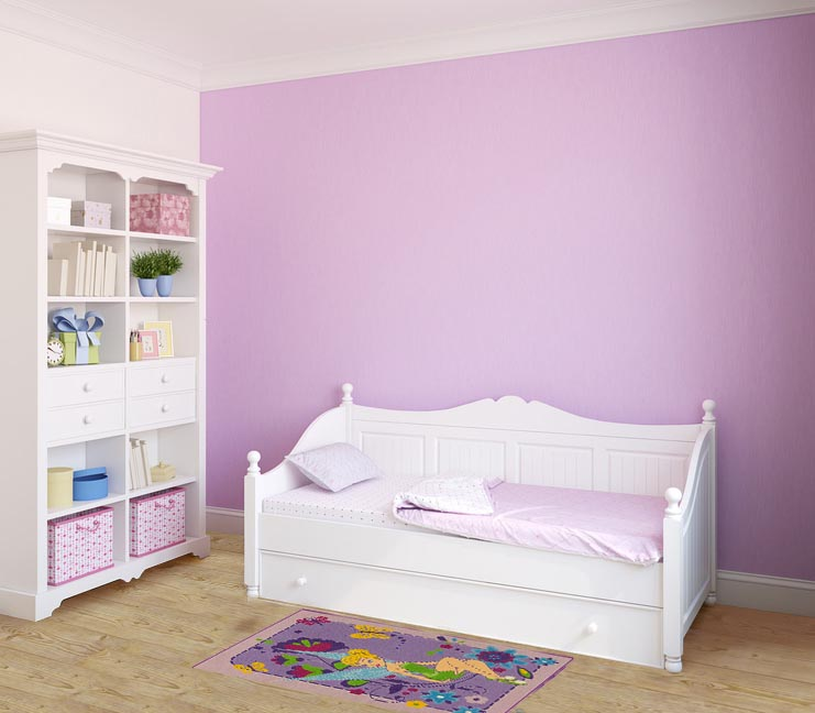 teppich disney kinder tinkerbell fee m dchen lila 95x133. Black Bedroom Furniture Sets. Home Design Ideas