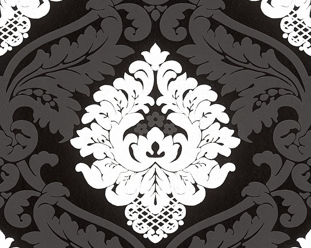 tapete as creation ornament glitzer schwarz 3139 59. Black Bedroom Furniture Sets. Home Design Ideas
