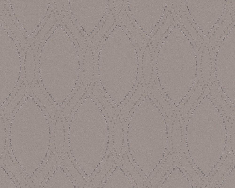 Tapete grafisch grau silber as creation 30599 2 for Tapete silber grau