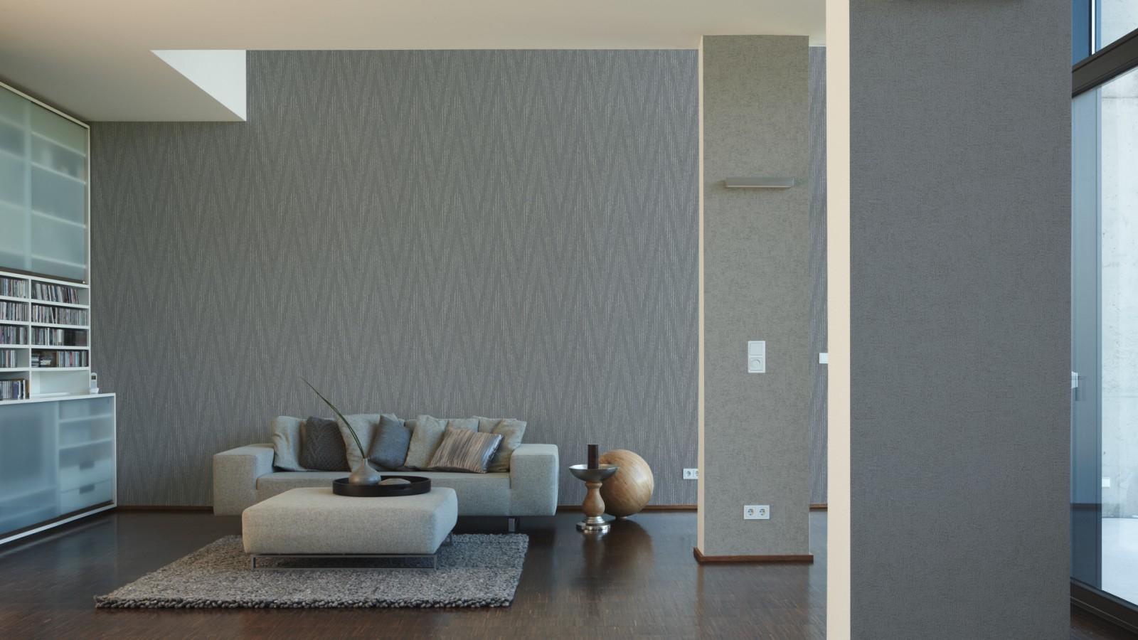tapete vlies gestreift metallic grau livingwalls 30645 3. Black Bedroom Furniture Sets. Home Design Ideas