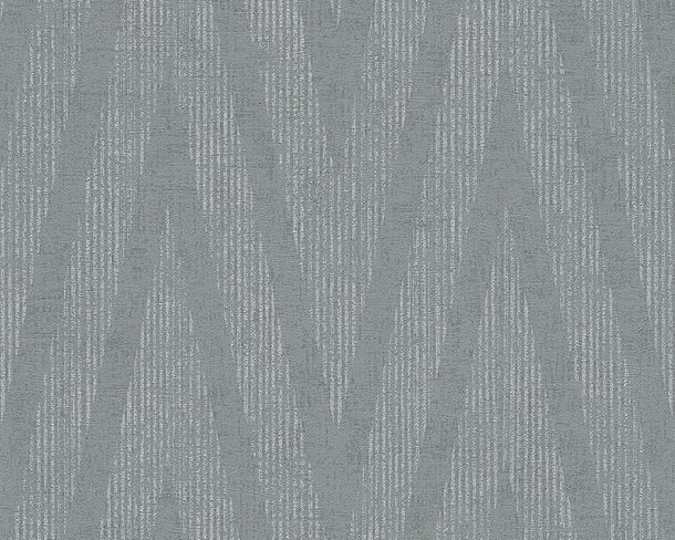 Tapete Vlies Gestreift Metallic grau livingwalls 30645-3