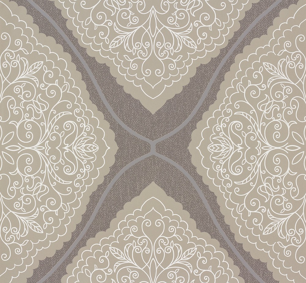 ornamental-design grey beige 57101