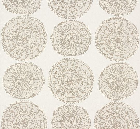 Zuhause Wohnen Tapete Floral weiß beige 57126 online kaufen