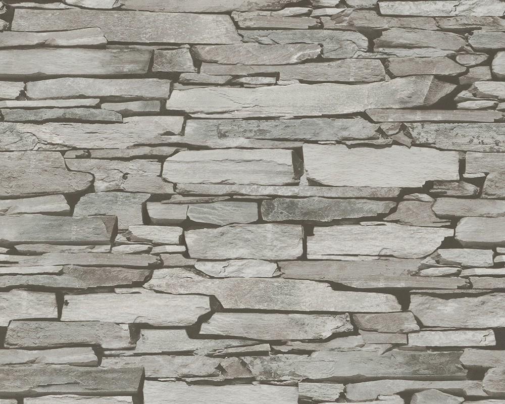 tapete stein optik schiefer grau as creation 9431 18. Black Bedroom Furniture Sets. Home Design Ideas