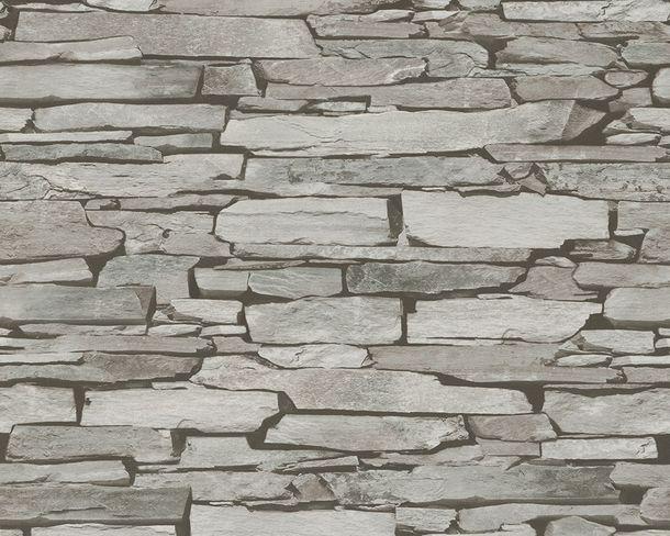 Tapete Schiefer Steine grau schwarz 9431-18