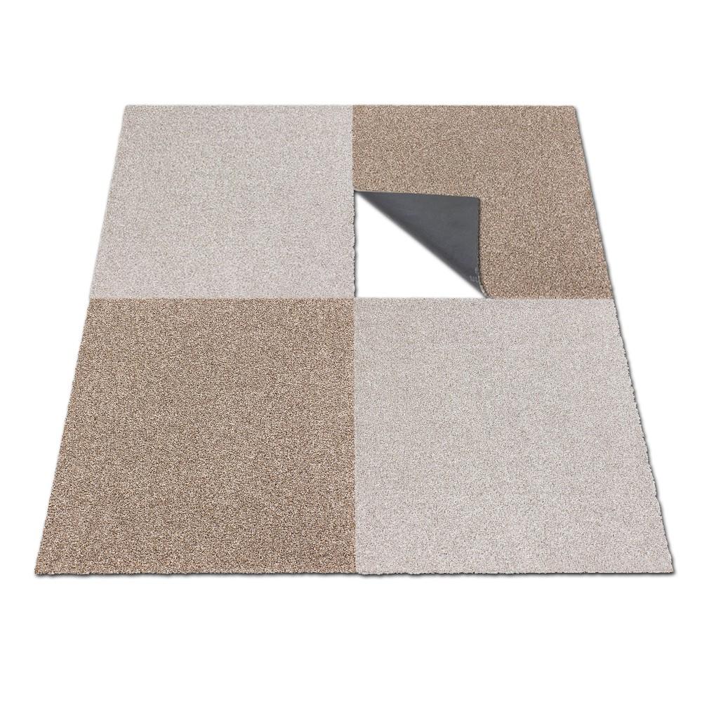 Carpet Tile Velour Heavy Duty Beige Intrigo 50x50 Cm