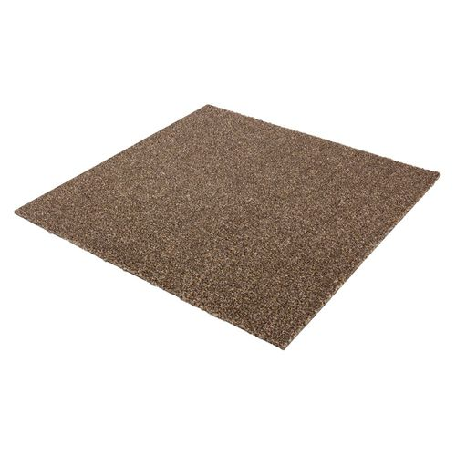 Carpet Tile Velour Heavy Duty brown Intrigo 50x50 cm online kaufen