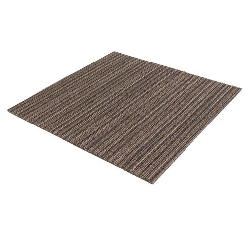 Carpet Tile Heavy Duty brown Lineation 50x50 cm online kaufen