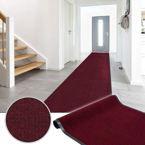 Dirt Barrier Runner Rug Non-Slip Mat Red Basic Clean 120cm online kaufen