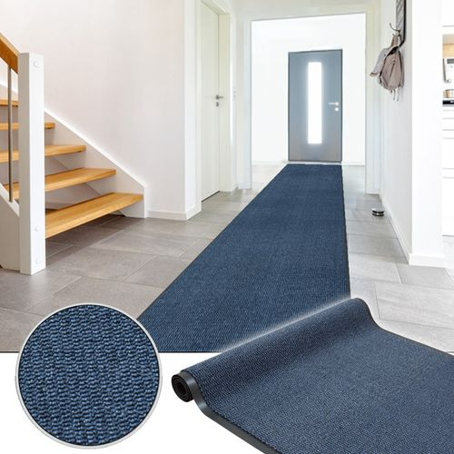 Dirt Barrier Runner Non-Slip Mat Blue Basic Clean 120cm online kaufen