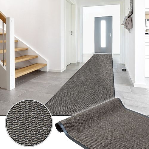 Dirt Barrier Runner Hard Wearing Non-Slip Mat Beige Basic Clean 120cm online kaufen