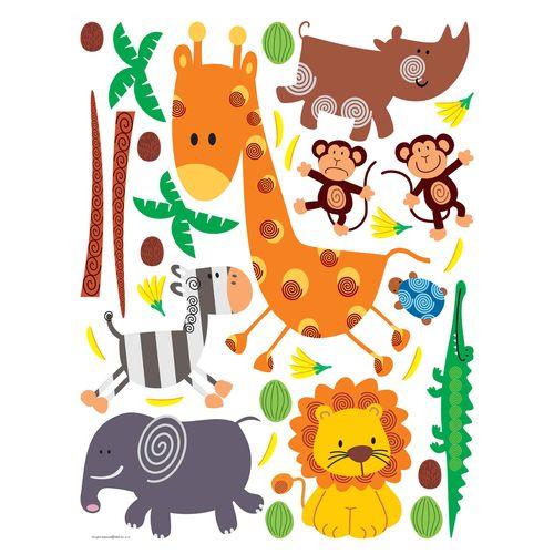 Wall Sticker Decoration Kids Animal Zoo 65x85cm