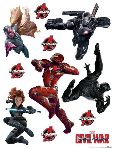 Marvel Wall Sticker Decoration Avengers Iron Man 65x85cm buy online