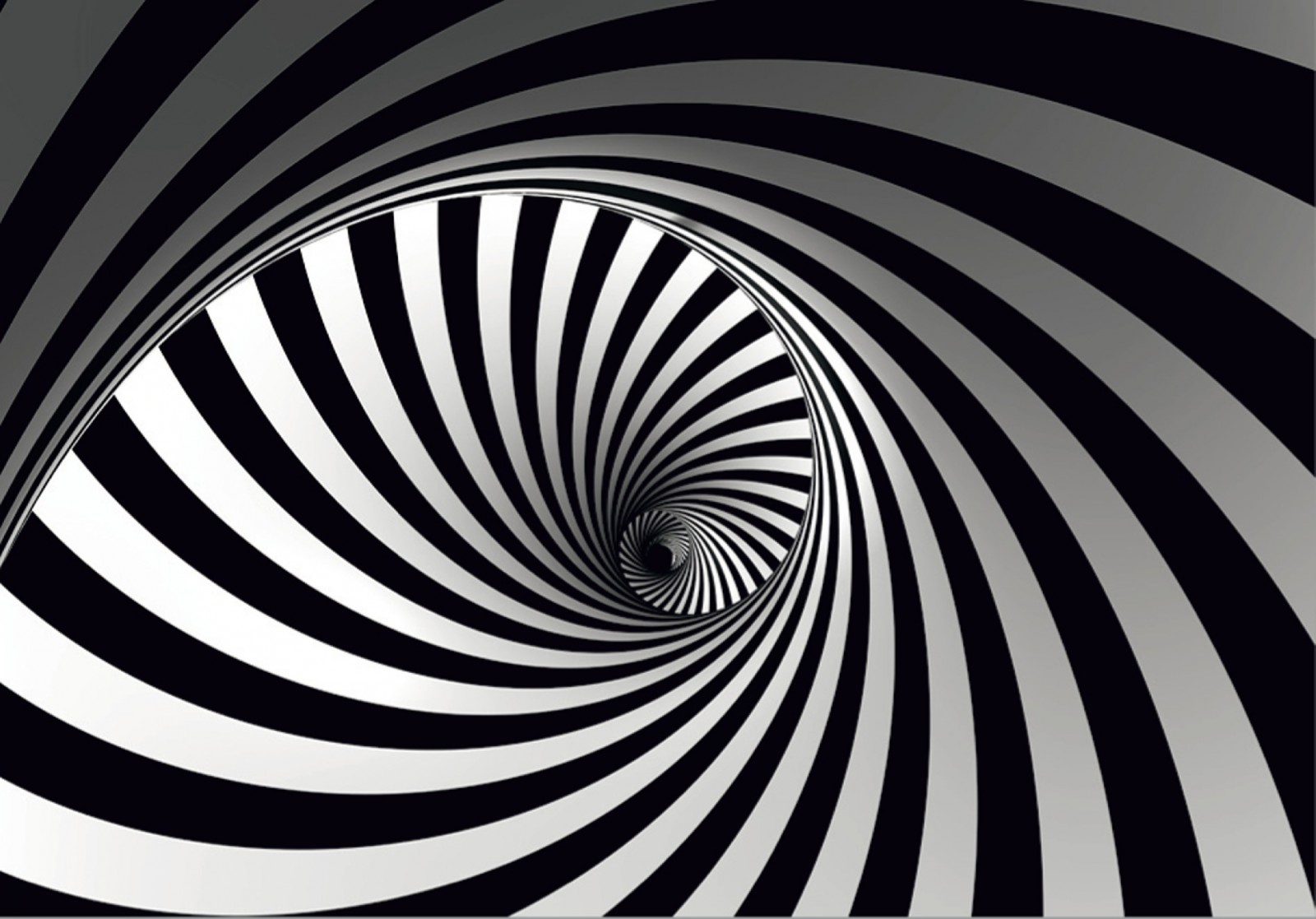 L Photo Wallpaper Mural Graphic Spiral Black White 001