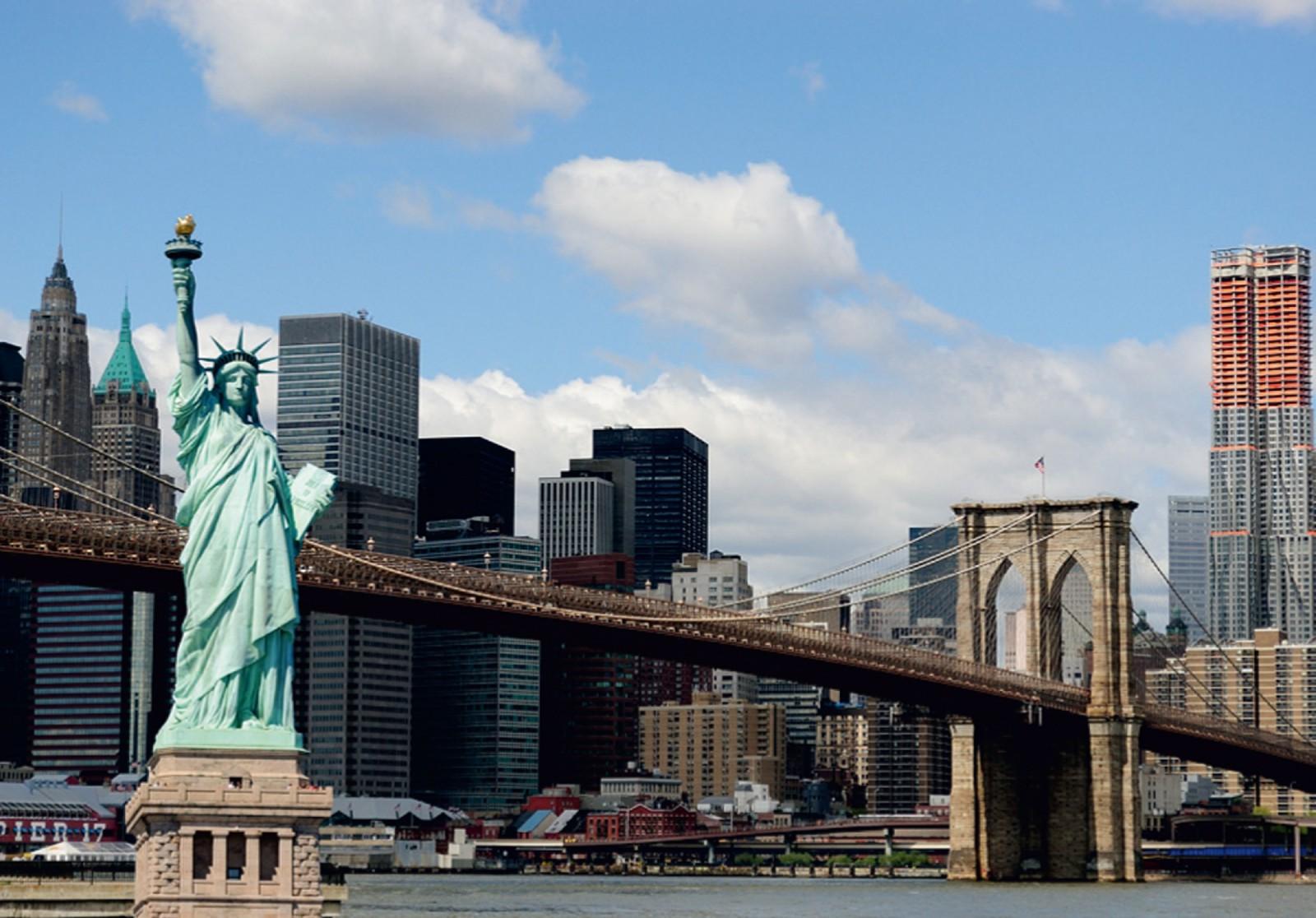 Photo Wallpaper Mural New York Statue Of Liberty City
