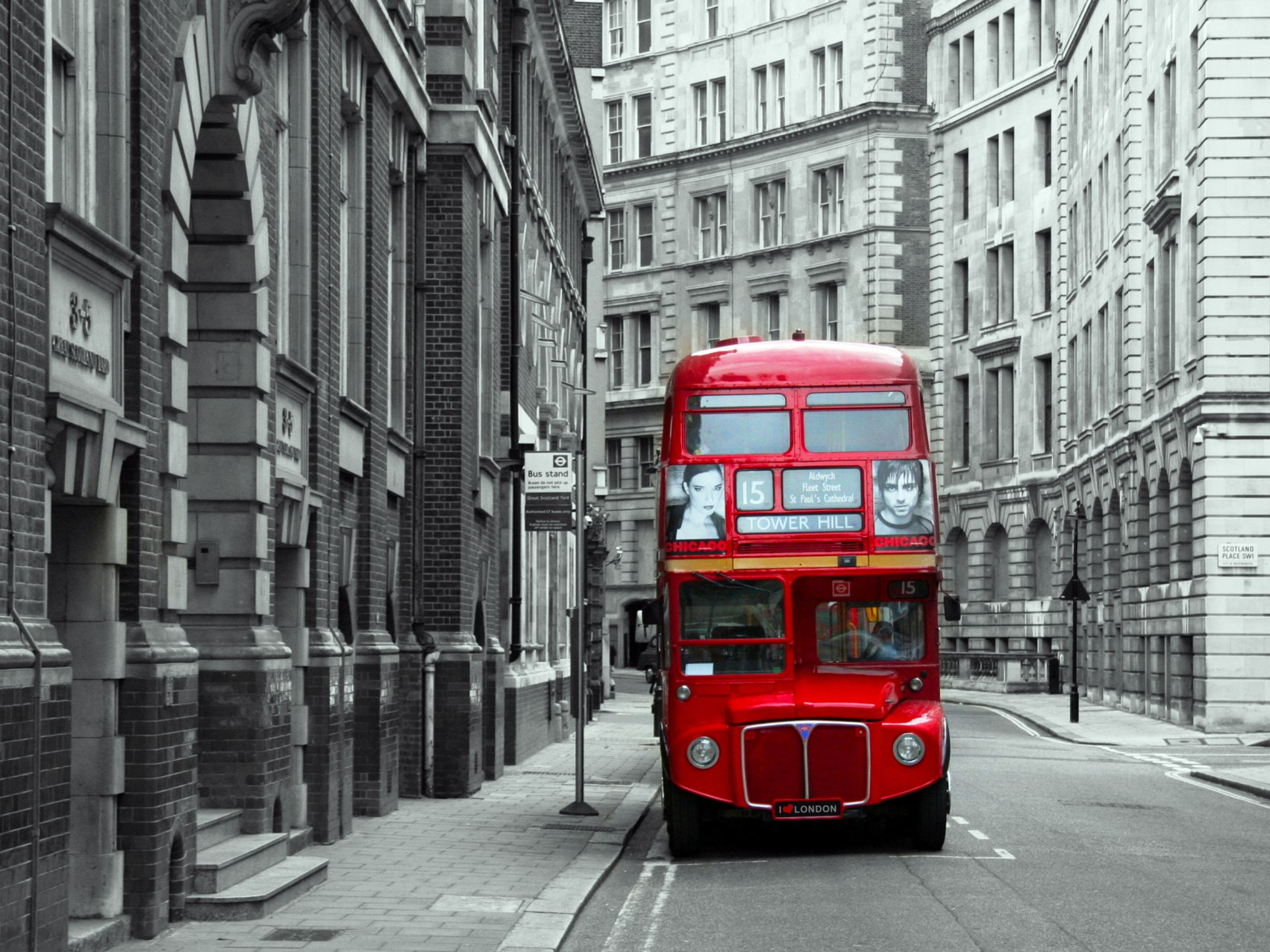 Xxl photo wallpaper mural london england routemaster for Black and white london mural wallpaper