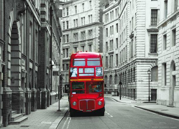 Photo Wallpaper Mural London England Bus 160x115cm online kaufen