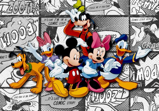 Disney XL Photo Wallpaper Mural Mickey Mouse Goofy Pluto online kaufen