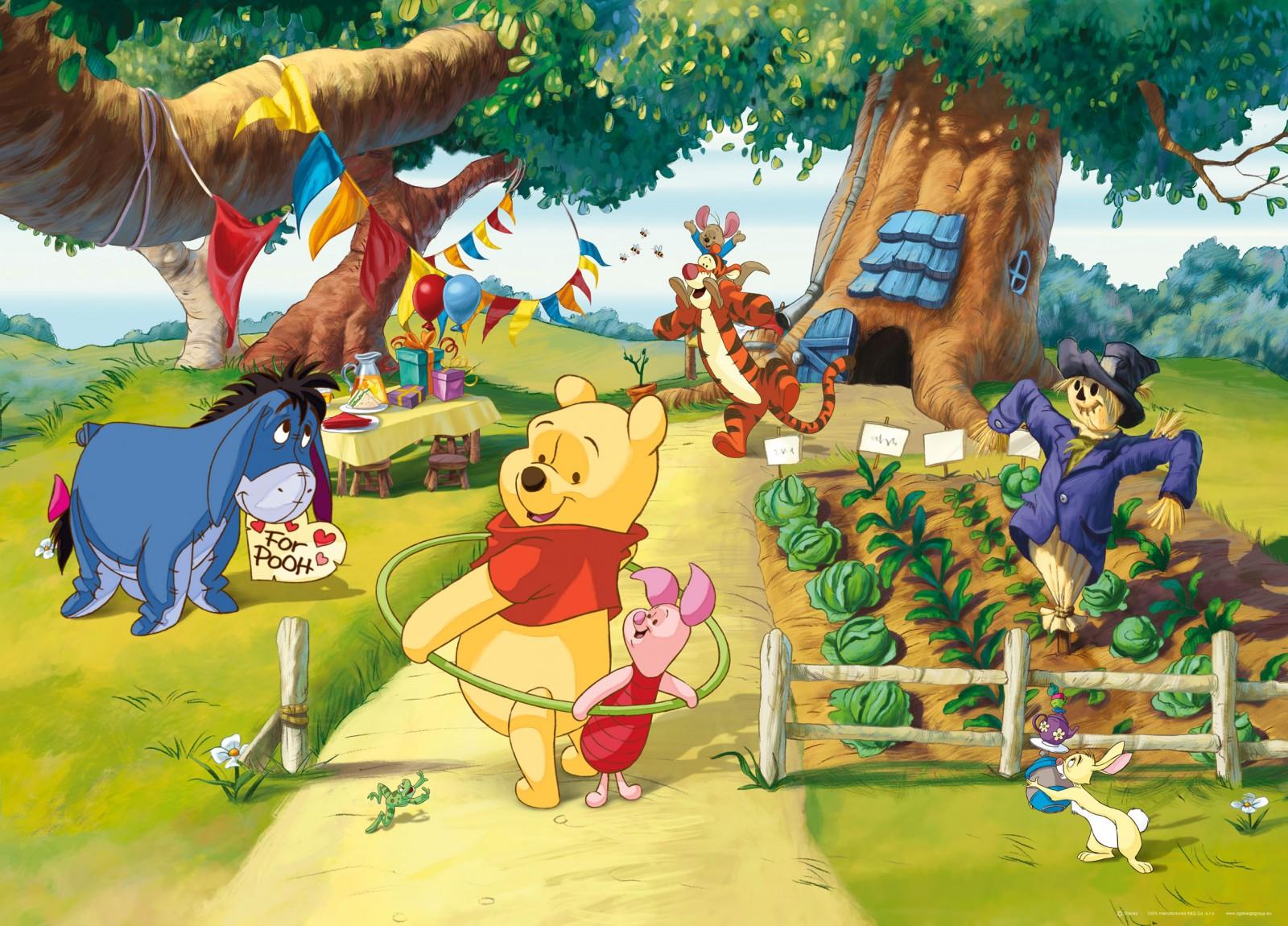 Disney Poster Tapete Winnie Puuh Ferkel 160x115cm