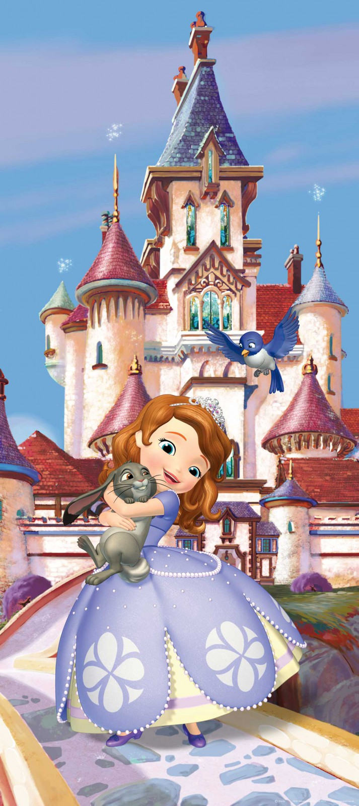 Disney photo wallpaper mural sofia princess 90x202cm for Disney mural wallpaper