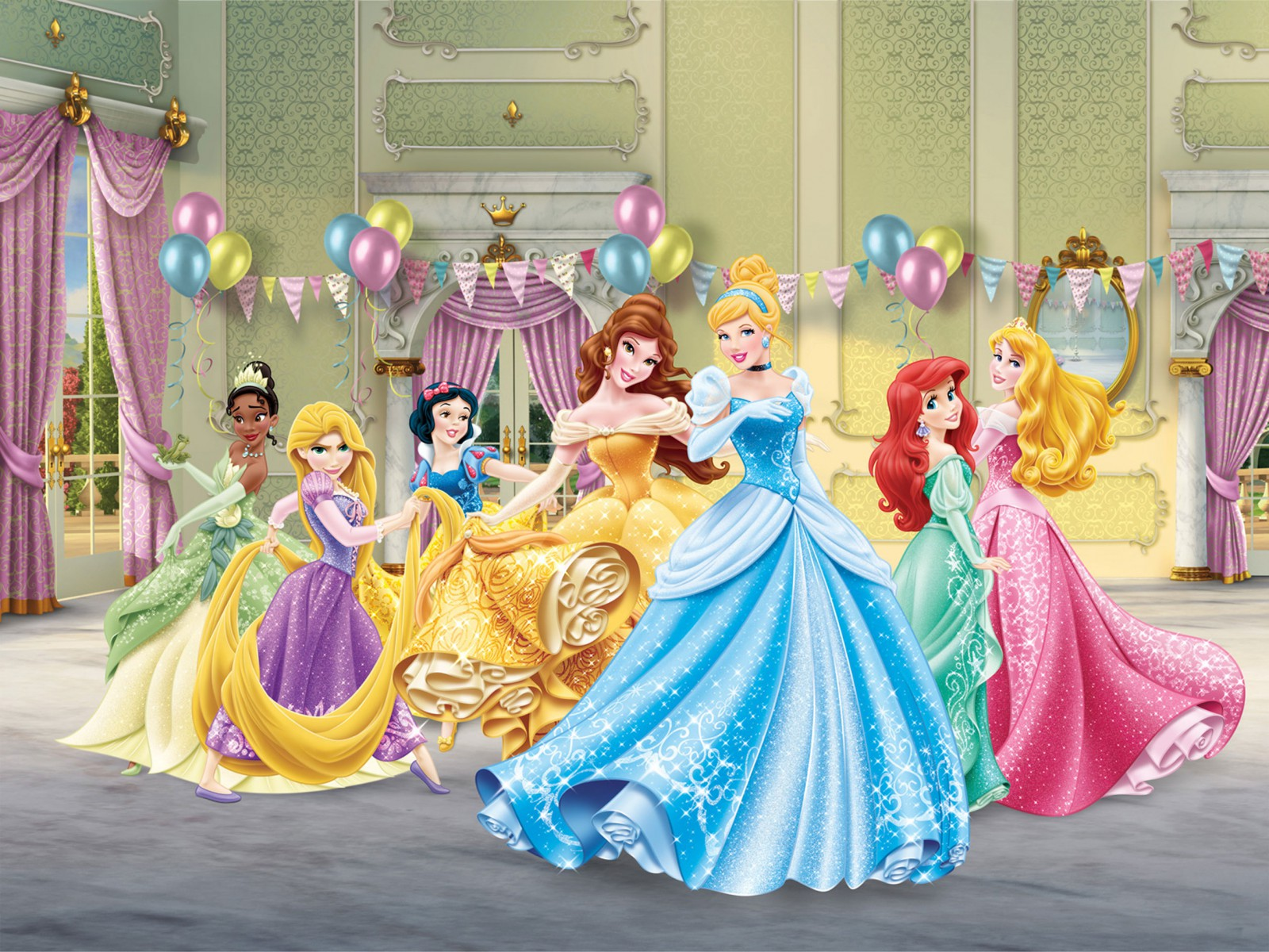 Xl photo wallpaper mural disney princess cindarella for Disney mural wallpaper