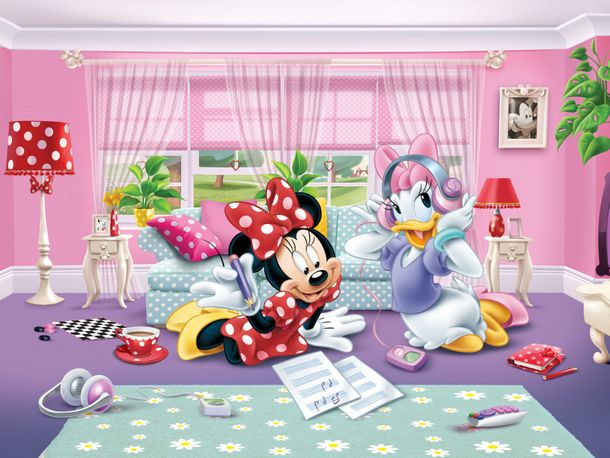 Disney XL Photo Wallpaper Mural Minnie Mouse Daisy Duck