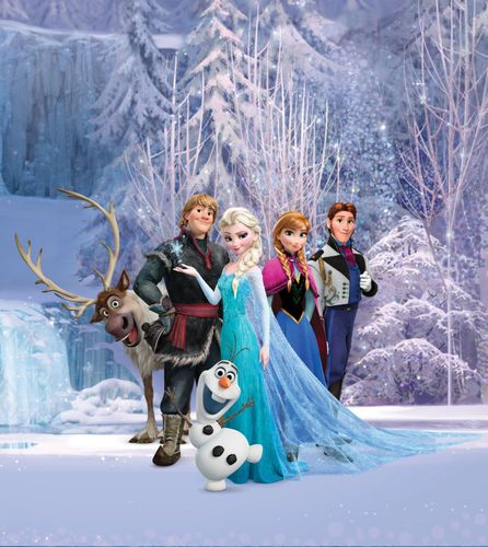 Disney XL Photo Wallpaper Mural Frozen Elsa Olaf online kaufen