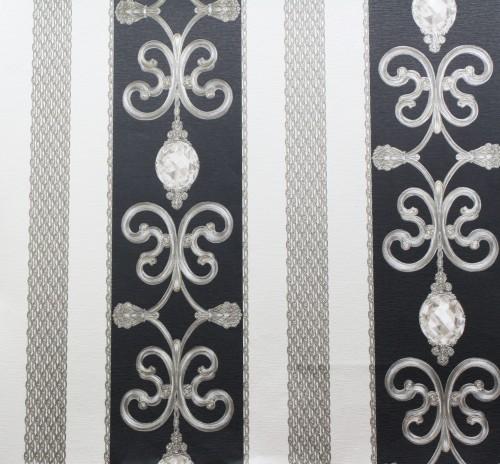 Satin Tapete Hermitage 8 Klassik Barock 8913-34 schwarz online kaufen