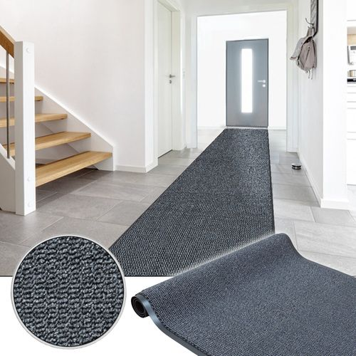 Door Entrance Barrier Runner Rug Grey Basic Clean 120cm online kaufen