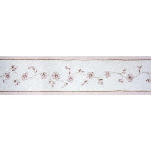 Border floral tendril rose taupe Petite Fleur 285528 online kaufen