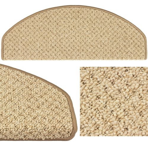 Set of 10-30 Stair Tread Mats Rustik Texture Sling beige 28x65cm buy online