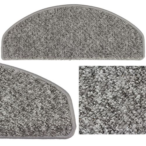 Set of 10-30 Stair Tread Mats Rustik Texture Sling grey 28x65cm buy online